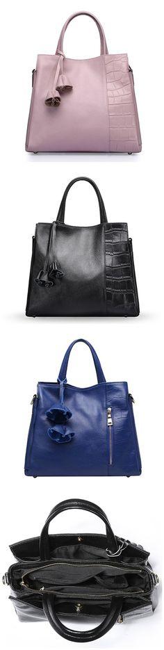 Fashion Women's Genuine Leather Large Vacation Tote Lady Handbag Purse Bagail.com