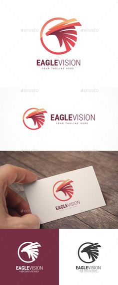 Eagle Vision Logo by Jue_ArtDesign LOGO TEMPLATE :Logos are vector based built in Illustrator software. They are fully editable and scalable without losing resoluti Logo Design Template, Logo Templates, Logo Design Inspiration, Icon Design, Name Card Design, Wings Logo, Bird Logos, Eagle Logo, Elegant Logo