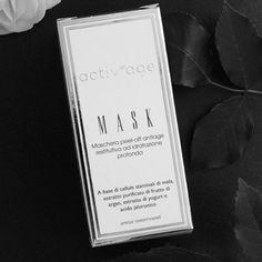 Activage Mask è una maschera peel off rassodante, antiage restitutiva ad efftto esfoliante, idratante e rigenerante profondo A base di cellule staminali di mela, estratto purificato di frutto di argan, estratto di yogurt ed acido jaluronico.