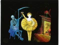 """""""Folly and Death"""" from the Joel Rubin collection of Kliegl slides, Theatre Research Institute"""