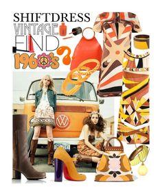"""60s Retro Inspired Shiftdress"" by mia-christine ❤ liked on Polyvore featuring Michael Kors, Emilio Pucci, Marni, Trifari, Lanvin, SOREL, Miu Miu, Lapcos, Christian Louboutin and retro"