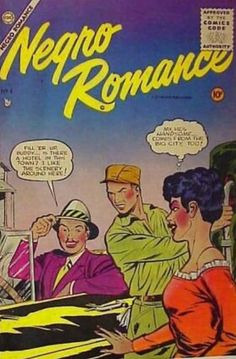 Negro Romance Comic Book (1950s) Fawcett published three issues of Negro Romance, the second issue being reprinted by Charlton as Negro Romances number four, dated June through October 1950 and May 1955 respectively, as well as a series of sports hero comics about 1950 that included short runs of books starring Jackie Robinson and Joe Lewis.