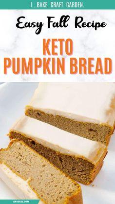 Diabetic Recipes, Keto Recipes, Healthy Recipes, Fall Dessert Recipes, Fall Recipes, Good Foods For Diabetics, Keto Bread, Low Carb Desserts, Sin Gluten