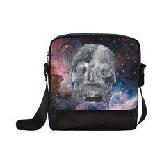 Crystall Skull Crossbody Nylon Bag. FREE Shipping. #artsadd #bags #skull