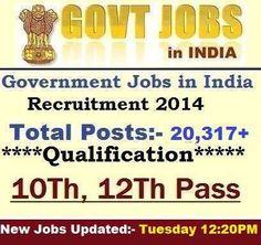 latest govt jobs, sarkari naukari, competative exams, Banks, Railways, Police Recruitment, IBPS, UPSC, SSC, RRB, IT Jobs, Walkins alerts.