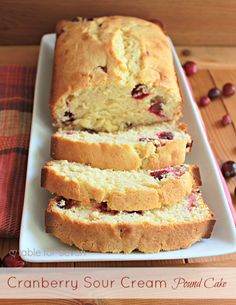 table for seven: Cranberry Sour Cream Pound Cake