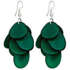 Ayllu Earrings Dark Green now featured on Fab.