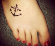 Anchor heart cross