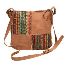 Chindi and leather cross body bag