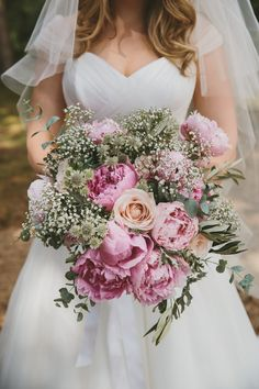 Pink Peony Bridal Bo