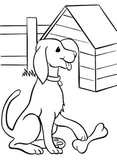 Keeping The Dog Bones Coloring Pages For Kids Printable Dogs