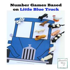 Number Games Based on Little Blue Truck Books Activities For Autistic Children, Games For Toddlers, Infant Activities, Preschool Activities, Preschool Books, Preschool Learning, Toddler Preschool, Preschool Winter, Learning Time