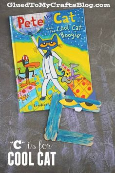 """C"" is for Cool Cat - Pete The Cat Kid Craft Idea"