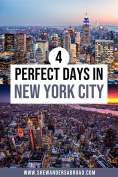 The only 4 days in New York City itinerary you'll ever need. Follow this itinerary to see all the best places in NYC in 4 days! | New York travel tips | New York itinerary | NYC itinerary | 4 days in New York | Best things to do in New York City | Best places to visit in NYC | NYC Travel | USA travel tips | New York City aesthetic | New York City 4 days | 4 day New York City itinerary | New York City travel guide | NYC travel planning | New York vacation tips | NYC bucket list | NYC must do Visit New York City, New York City Travel, Nyc Itinerary, Usa Travel Map, New York Vacation, City Aesthetic, Future Travel, City Guides, Cool Places To Visit