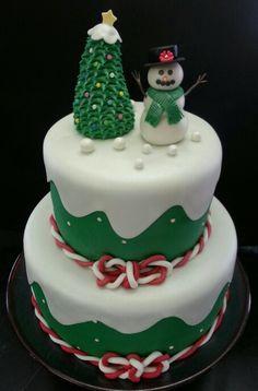 Christmas-Snowman cake
