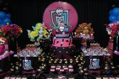 Festa Monster High, muito preto