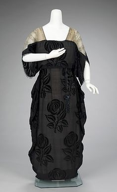 Evening dress (image 1)   French   1912-1914   silk   Brooklyn Museum Costume Collection at The Metropolitan Museum of Art   Accession #: 2009.300.3180