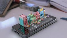 iphone diorama by Michael Ko