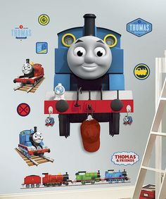 Thomas Peel & Stick Giant Wall Decal & Hooks