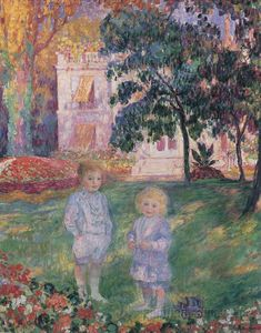 Children in the Garden, 1907, oil on canvas. Henri Lebasque, French, 1865–1937.  Private collection.