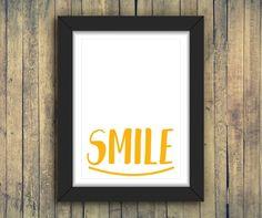 SMILE | Poster A3 e A4  #poster #quadro #pôster #decoração #decoraçãocriativa #ilustração #inspiração #arte #criativo #criatividade #smile #sorria #sorriso #minimalista