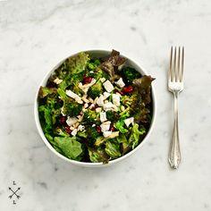roasted broccoli, ricotta salata & cranberry salad