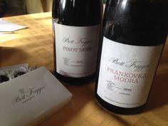 Bott Fridgyes Frankovka Modrá a Pinot Noir  #bott #fridgyes #frankovkamodra #pinotnoir #vino #vinice #vinarstvo #winery #wine
