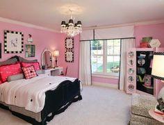 10 Dormitorios juveniles en rosa y negro