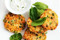 Millet, cauliflower, pea and ricotta fritters - body+soul