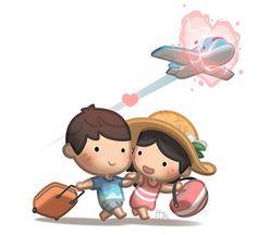 Love Is Cartoon, Love Is Comic, Cute Love Cartoons, Hj Story, Cute Couple Comics, Cute Couple Cartoon, Long Distance Love Quotes, Chibi Couple, Cute Romance