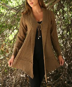 Another great find on #zulily! Brown Sidetail Duster #zulilyfinds