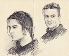 sketch of Mike Patton
