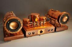 Steampunk boiler speaker and amplifier 1