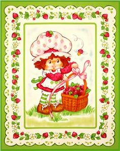 Strawberry Shortcake panel for party decor