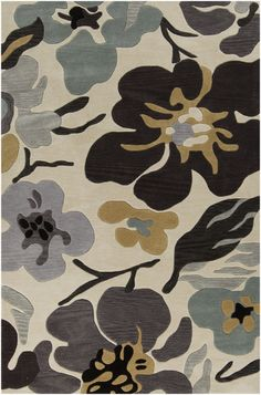 New floral rug from Surya's Lava collection (LVA-8017)