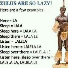 Celebrate the zulu language