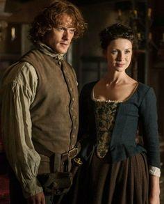 Claire Fraser, Jamie And Claire, Jamie Fraser, Sam Heugan, Sam And Cait, Outlander Season 1, Outlander Series, Bonnie Clyde, Caitriona Balfe