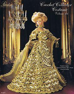 Paradise Crochet Pattern Fashion Doll Collector 1900 Century Celebration Costume   eBay