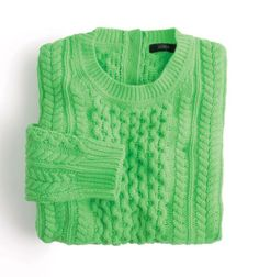 J.Crew cable-knit sweater.