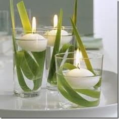 Centerpieces Ideas For Parties – frühlingsdeko mit drei schwimmenden kerzen in wassergläsern Related posts: Furnishing ideas Lantern Centerpiece Wedding, Party Centerpieces, Centrepieces, Greenery Centerpiece, Simple Centerpieces, Centerpiece Ideas, Deco Nature, Deco Floral, Wedding Table