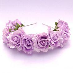 Lilac Flower Headband.
