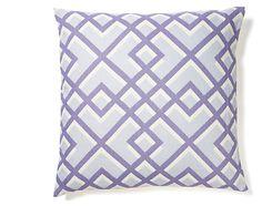 Flexi 20x20 Cotton Pillow, Purple | Pattern Play | One Kings Lane