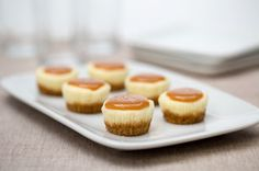 Salted Caramel Cheesecake Minis Recipe - Kraft Recipes - use GF graham cracker crumbs or Pamelas ginger snaps Kraft Foods, Kraft Recipes, Salted Caramel Cheesecake, Cheesecake Recipes, Dessert Recipes, Cheesecake Bites, Carmel Cheesecake, Caramel Pie, Cheesecake Cupcakes