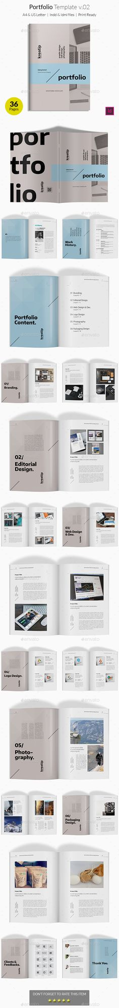 Portfolio Template v02  #simple #booklet #clean • Click here to download ! http://graphicriver.net/item/portfolio-template-v02/16167115?ref=pxcr