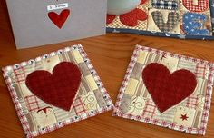 Valentine Mug Rug | Flickriver: The Patchsmith's most interesting photos