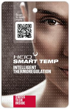 HeiQ Smart Temp is a revolutionary textile technology that provides fabrics with the ability to interact with body temperature and dynamically respond. Revolutionaries, Coding, Technology, Learning, Tech, Studying, Tecnologia, Teaching, Programming