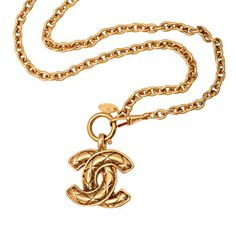 """CHANEL Quilted """"CC"""" Signature Necklace, 22"""", Circa Early 90's,"""