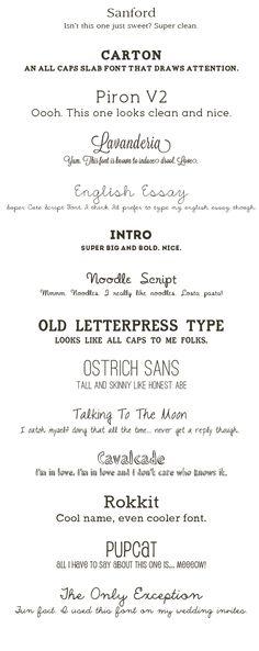 ☆ cute free fonts