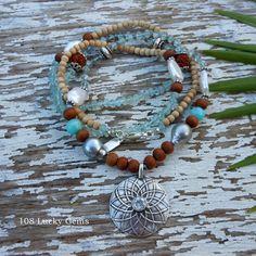 Beautiful 36 inch Healing Gemstone Necklace by SatiGemsHawaii, $200.00
