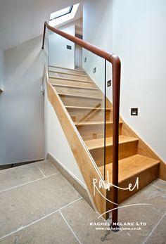 Basement staircase - Interior Design by Rachel McLane Ltd